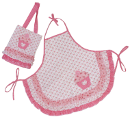 childs apron and bag