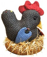 nesting chicken pin cushion