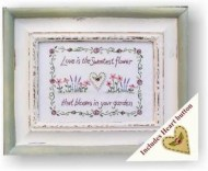 love is the sweetest flower frame
