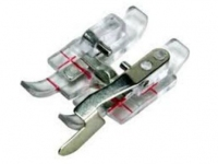 Clear 1/4 inch Right Guide Foot with IDT