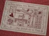 Quilt Card- Friendships are Sewn