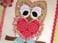 Quilt Card- Holly The Owl