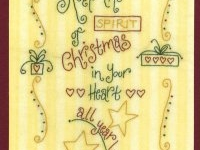 Quilt Card- Keep The Spirit