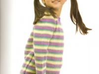 Reverse Stocking Stitch Stripe Sweater