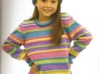 Bright Stripe Sweater and Beanie