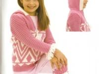 Fair Isle Zip Jacket with hood and matching Rib Leggings