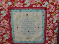 Quilt Card- A Sister is one to ...