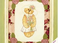 Teddy with Roses by Libby Richards