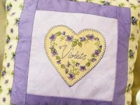 Violets Pillow by Libby Richards
