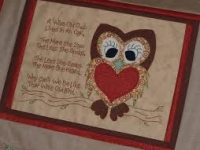 Quilt Card- Wise Old Owl